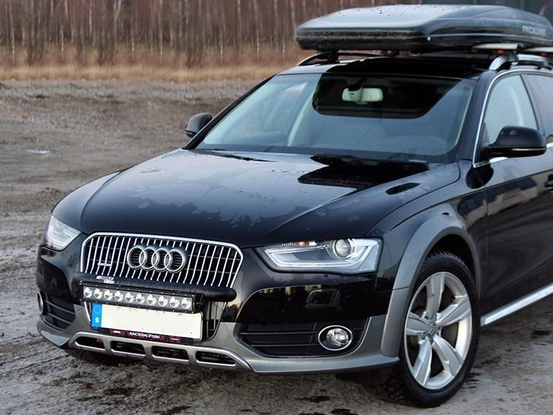AUDI A4 ALLROAD 2009 - WILDERNESS LIGHTING BUMPER MOUNT & LED LIGHT BAR